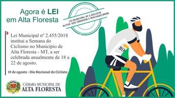 Lei institui a Semana do Ciclismo