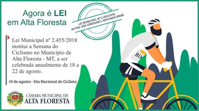 Lei institui a Semana do Ciclismo